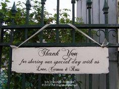 thank you wedding sign