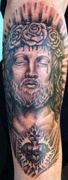 Jesus Tattoo by Lisa Murphy www.againstthegraintattoo.com