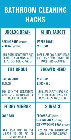 These are the BEST bathroom cleaning hacks are that beyond genius. Glad to have found these amazing bathroom cleaning tips and checklist. Definitely pinning for later! hacks 1 diy hacks hacks of life hacks Bathroom Cleaning Hacks, Household Cleaning Tips, Deep Cleaning Tips, Cleaning Recipes, House Cleaning Tips, Natural Cleaning Products, Cleaning Solutions, Cleaning With Vinegar, Wall Cleaning