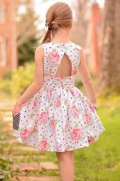 NEW DOT Smile CUP Twirl Dress Summer Knit Short Sleeve Girls Rain Drops