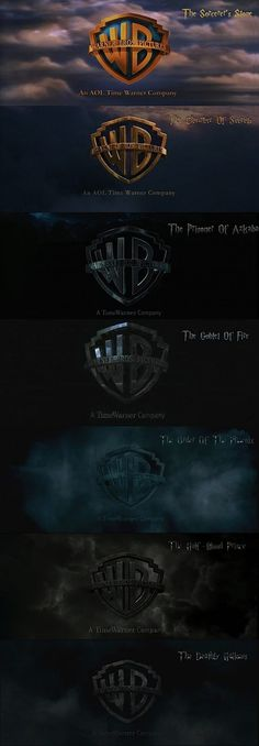 Interesting! As the HP series progressed, the Warner Bros logo gets darker and more haunting... never noticed that before.