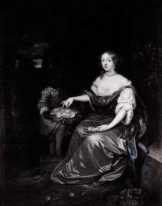 Adelheid Isabella Ripperda met haar bediende. www.nazatendevries.nl/Genealogie/NazatenDeVriesWeb/huningaframeset.htm?huninga001578.htm#31571