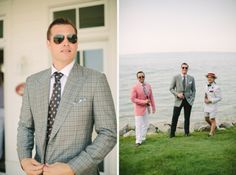 Groom with Groomsmen | Bay Harbor Michigan wedding photography