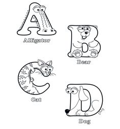 I Spy Alphabet Colouring Pages  ABC Coloring Pages  Pinterest