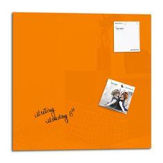 Smart Glass Board ® 48 x 48 cm, Orange, Tableau magnétique en verre / Mémo magnétique / Tableau d'affichage + 2 Aimants: Amazon.fr: Fournitures de bureau