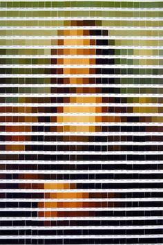 Pantone swatch paintings