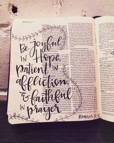 •• romans 12:12 ••
