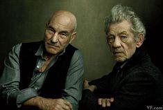 Sir Patrick Stewart and Sir Ian McKellen, photographed by Annie Leibovitz for Vanity Fair