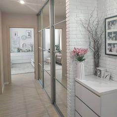 Home Room Design, Home Interior Design, House Design, Home Living Room, Home Bedroom, Living Room Decor, Hall Furniture, Home Decor Furniture, Ikea Decor