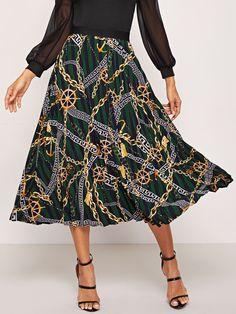 1bdbd9118f Crinkle Elastic Waist Full Length Skirt Navy   Juniors Skirts in ...