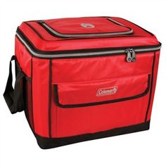 Coleman 40 Can Collapsible Soft Cooler - Red.