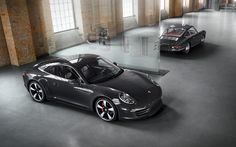 #Porsche #911 50th anniversary edition: The wings, which Ferry Porsche referred to as fins, enhance the front outline. Learn more: http://link.porsche.com/911-50?pc=50Y911PINGA Combined fuel consumption in accordance with EU 5: 9.5-8.7 l/100 km; CO2-emission: 224-205 g/km