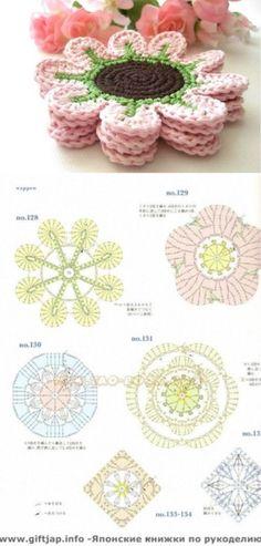 Watch The Video Splendid Crochet a Puff Flower Ideas. Phenomenal Crochet a Puff Flower Ideas. Crochet Circles, Crochet Mandala, Crochet Squares, Crochet Motif, Crochet Doilies, Crochet Lace, Crochet Stitches, Crochet Coaster, Crochet Puff Flower