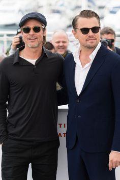 Brad Pitt and Leonardo DiCaprio Look So Damn Handsome in Cannes, It's Almost Disturbing Leonardo Dicaprio, Margot Robbie, Titanic, Brad And Angelina, Dress Shirt And Tie, Cool Sunglasses, Tough Guy, Blue Aesthetic, Celebs