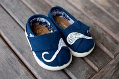 Mustache TINY TOMS by BStreetShoes on Etsy, $79.00