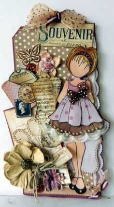These Prima doll tags are adorable… Prima Paper Dolls, Prima Doll Stamps, Tag Art, Card Tags, Gift Tags, Doll Crafts, Paper Crafts, Decoupage, Handmade Tags