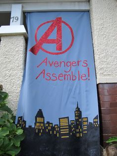 6 year old Avengers Birthday Party banner