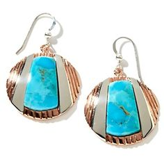 Jay King Turquoise and Sterling Silver Copper Disc Earrings at HSN.com.