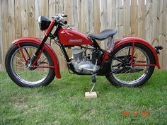 Harley Hummer 125cc Had less than 5 hp, so rider didn't have to have big bike license.