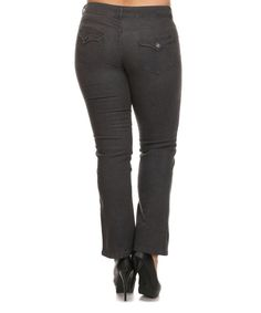 Charcoal Emperial Premium Bootcut Jeans - Plus Too