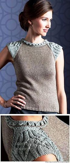 Beautiful details on this sweater. Would love to fin it in English! | detailed cap sleeve