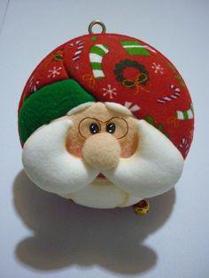 mogollas de icopor - Buscar con Google Fabric Christmas Ornaments, Felt Christmas Decorations, Santa Ornaments, Christmas Nativity, Handmade Ornaments, Christmas Balls, Christmas Crafts, Holiday Decor, Christmas Projects
