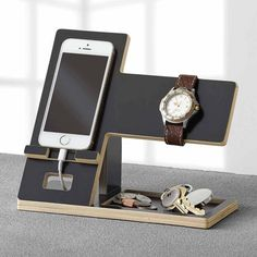 Cell phone organizer cell phone accessory stand valet tray watch display charging station organizer watches and . Desk Phone Holder, Iphone Holder, Iphone Stand, Cell Phone Stand, Iphone Phone, Phone Charger, Charging Station Organizer, Docking Station, Charging Stations