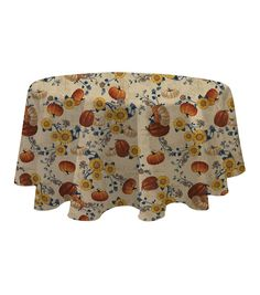 Fall Into Color 60''x60'' Round Tablecloth - Harvest