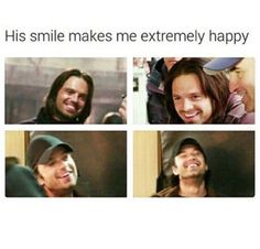 Bucky's smile is perfect