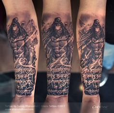 Fury of Lord Shiva Tattoo