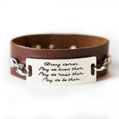 Strong Women Bracelet - Dark Chestnut / Silver