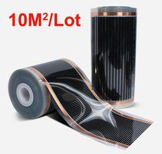Hot. Europe Tax Free 50CM* 20M 1 Roll 10Sq Meter Quality Korea Electric Floor Heating Films, 220V/230VAC, 110W/M #Affiliate