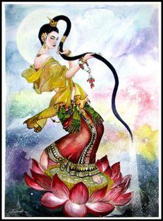 Hindu Deities, Thai Style, Indian Gods, Durga, Ancient Art, Buddha, Graphic Design, Cartoon, Disney Characters