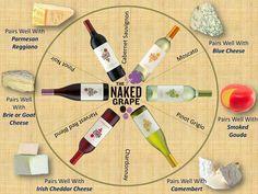 Cheese and wine pairing infographic