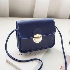 a462b5f65 Barato Moda Simples Sólidos Bolsa de Ombro Pequenas Bolsas de Couro das  mulheres Sacos Crossbody para
