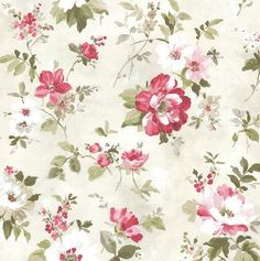 """Rosemore 33' x 20.5"""" Amalia Garden 3D Embossed Wallpaper"""