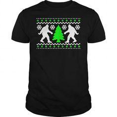 Awesome Tee  Bigfoot Christmas Holiday Sweater Xmas T shirts