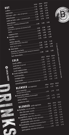 Art of the Menu: Blue Butterfly Coffee Co.