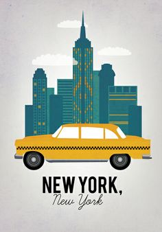 58 Ideas travel poster design ideas new york Old Poster, New York Poster, Photo Vintage, Retro Vintage, A New York Minute, Voyage New York, Empire State Of Mind, I Love Nyc, New York Art