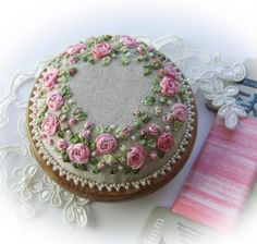 Wonderful Ribbon Embroidery Flowers by Hand Ideas. Enchanting Ribbon Embroidery Flowers by Hand Ideas. Learn Embroidery, Rose Embroidery, Japanese Embroidery, Embroidery For Beginners, Embroidery Kits, Embroidery Stitches, Embroidery Supplies, Embroidery Techniques, Embroidery Books