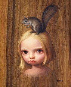 Mark Ryden - PopSurrealism - Squirrel Girl - 2008
