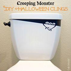 Halloween Decorations: DIY Creeping Monster Vinyl Clings
