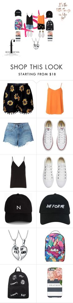 """best friends out and about"" by amelia139 on Polyvore featuring GALA, Dorothy Perkins, Alexander Wang, Converse, Raey, New Black, Nasaseasons, Bling Jewelry, Sprayground and Mini Cream"