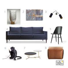 Couch, Interior Design, Mood Boards, Furniture, Yellow, Blog, Home Decor, Nest Design, Settee
