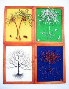 Four Seasons Tree - Wall Wire Art  Display