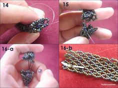 bead bangle, tutorial, netting technique, seed beads