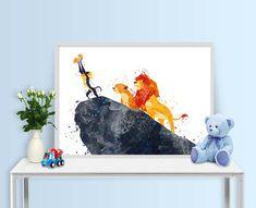 Lion King Print Simba Prints Disney Prints Watercolor Art image 5