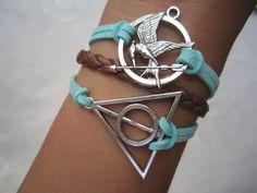 Combined Bracelet Hunger Games Bracelet by WearingPretty on Etsy, $5.99