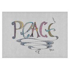 Peace 11.5 x 8 Deco Glass Cutting Board