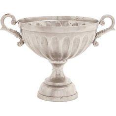 Decmode Aluminum Pedestal Bowl, Multi Color, Multicolor
